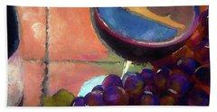 Italian Tile And Fine Wine Hand Towel by Lisa Kaiser