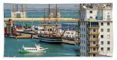 Hand Towel featuring the photograph Italian Training Ship Amerigo Vespucci Cadiz Spain by Pablo Avanzini