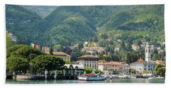Italian Village On Lake Como Bath Towel