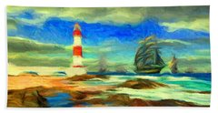 Itapua Lighthouse 1 Hand Towel