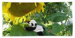 Hand Towel featuring the photograph It's A Big Sunflower by Ausra Huntington nee Paulauskaite