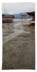 Itsukushima Shrine And Torii Gate Bath Towel