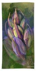 Hand Towel featuring the digital art Itty Bitty Baby Bluebells by Lois Bryan