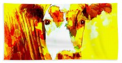 Yellow Cow Hand Towel