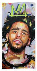 J Cole Hand Towel by Richard Day