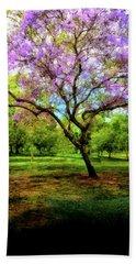 Jacaranda Tree Bath Towel by Joseph Hollingsworth