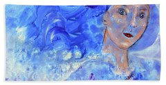 Hand Towel featuring the painting Jack Frost's Girl by Claire Bull