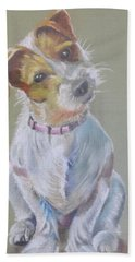 Jack Russell Watching You Bath Towel