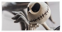 Jack Skellington Statuette Bath Towel