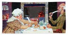 Jack Sprat Vintage Mother Goose Nursery Rhyme Hand Towel by Marian Cates