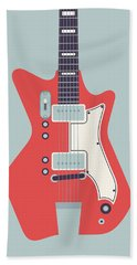 Jack White Jb Hutto Montgomery Ward Airline Guitar - Grey Hand Towel