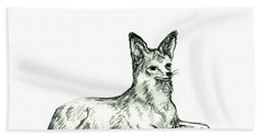Jackal Sketch Bath Towel
