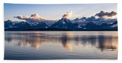 Jackson Lake Hand Towel by Serge Skiba