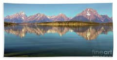 Jackson Lake Tetons Refection Hand Towel