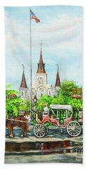 Jackson Square Carriage Hand Towel