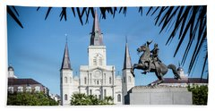 Bath Towel featuring the photograph Jackson Square by Chris Coffee
