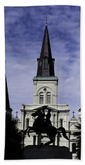 Bath Towel featuring the digital art Jackson Square - Color by Chris Coffee