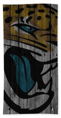 Jacksonville Jaguars Wood Fence Hand Towel