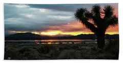 Jacob Tree Sunset - El Mirage Bath Towel