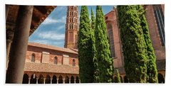 Bath Towel featuring the photograph Jacobin Convent In Toulouse by Elena Elisseeva
