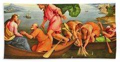 Hand Towel featuring the photograph Jacopo Bassano Fishes Miracle by Munir Alawi