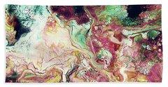 Jade Rhapsody - Abstract Art By Linda Woods Bath Towel