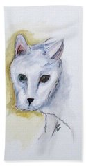 Jade The Cat Hand Towel