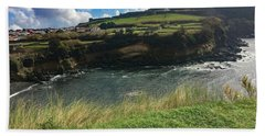Hand Towel featuring the photograph Jagged Coast Of Terceira by Kelly Hazel