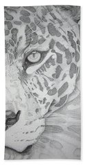 Jaguar Pointillism Hand Towel by Mayhem Mediums