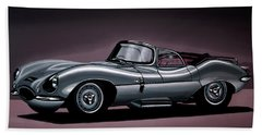 Jaguar Xkss 1957 Painting Hand Towel by Paul Meijering