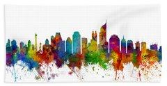 Jakarta Skyline Indonesia Hand Towel