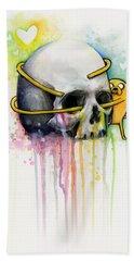 Jake The Dog Hugging Skull Adventure Time Art Bath Towel