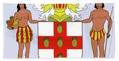 Jamaica Coat Of Arms Bath Towel by Movie Poster Prints