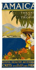 Jamaica  Vintage Travel Poster Bath Towel