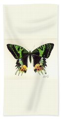 Hand Towel featuring the painting Jamaican Jewel by Lynn Quinn