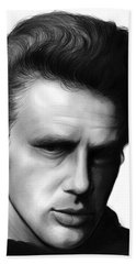 James Dean Hand Towel by Greg Joens