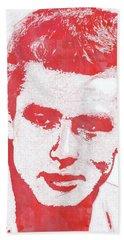 James Dean Pop Art Hand Towel by Mary Bassett