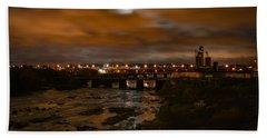 James River At Night Hand Towel