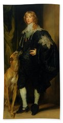 Bath Towel featuring the painting James Stuart - Duke Of Richmond And Lennox                       by Anthony Van Dyck