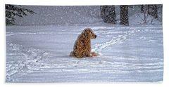 January Blizzard Hand Towel by Elizabeth Dow