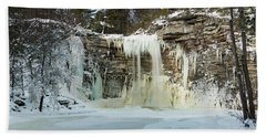 January Morning At Awosting Falls Hand Towel
