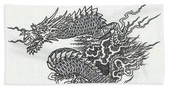 Japanese Dragon Hand Towel