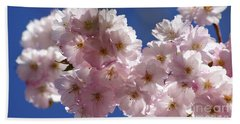 Japanese Flowering Cherry Prunus Serrulata Bath Towel