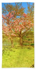 Japanese Garden Cherry Blossom Bath Towel