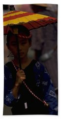 Hand Towel featuring the photograph Japanese Girl by Travel Pics