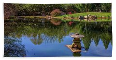 Japanese Reflections At Maymont Bath Towel by Rick Berk