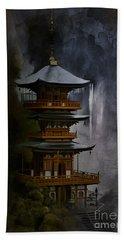 Japanese Temple. Bath Towel