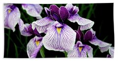 Japanese Water Iris In Purple 2714 H_2 Hand Towel