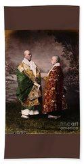 Japanese Zen Buddhist Priests Circa 1880 Hand Towel