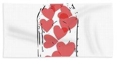 Jar Of Hearts- Art By Linda Woods Bath Towel